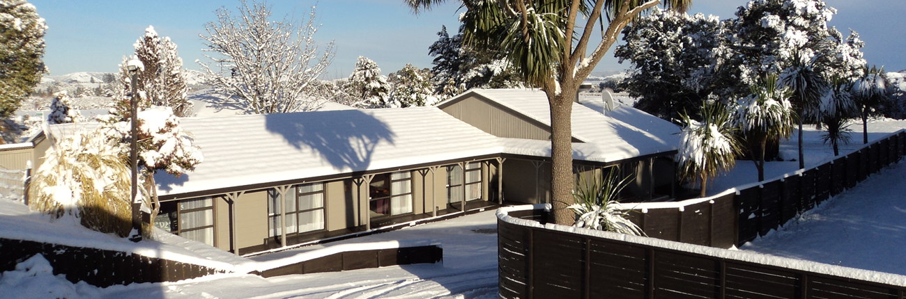 Ruapehu Lodge in Snow