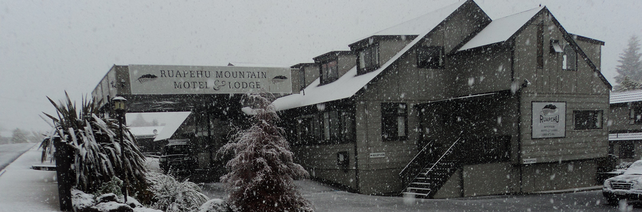 Ruapehu Motel in Snow